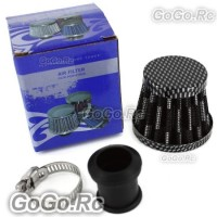 12mm CARBON CONE MINI OIL AIR INTAKE CRANKCASE VENT VALVE COVER BREATHER FILTER