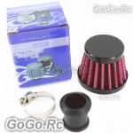12mm Red CONE MINI OIL AIR INTAKE CRANKCASE VENT VALVE COVER BREATHER FILTER