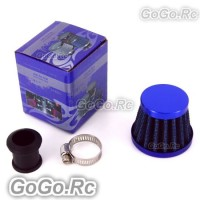 12mm BLUE CONE MINI OIL AIR INTAKE CRANKCASE VENT VALVE COVER BREATHER FILTER