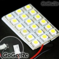 18 SMD 5050 LED Car Dome Light Panel Lamp 12V White (5050-P18-WH)