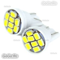 2 Pcs T10 8LED SMD 1206 Car Wedge Side Lamp Turn Signal White Light - LE002-08WH