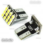 2 Pcs T10 / W5W / 501 Wedge 12 SMD 1206 SMD LED CAR LIGHT BULB - LE014-12WH