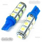 2 Pcs T10 194,168,W5W 13 5050 SMD LED Ice Blue Car Light Lamp Bulb LE001-13BU
