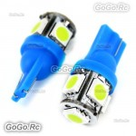 2 Pcs T10 194,168,W5W 5 5050 SMD LED Ice Blue Car Light Lamp Bulb 12V LE001-05BU