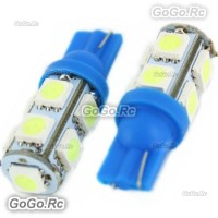 2 Pcs T10 194,168,W5W 9 5050 SMD LED Ice Blue Car Light Lamp Bulb 12V LE001-09BU