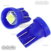 2 Pcs T10 194,168,W5W 1 5050 SMD LED Ice Blue Car Light Lamp Bulb - LE001-01BU