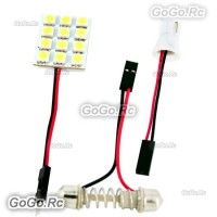 12 SMD 5050 LED Car Dome Light Panel Lamp 12V - Ice Blue - LE004-12BU