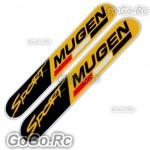 2 Pcs Mugen Sport Sticker Decal JDM Racing 30mmx150mm - CSM003