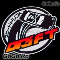 DRIFT Sticker Decal Emblem JDM Japanese Racing 120mmx110mm - CSD001