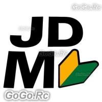 Black JDM Wakaba Leaf Sticker Decal JDM Drift Racing 115mmx120mm - CSJ002BK