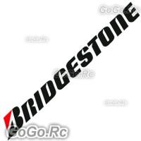 BRIDGESTONE Racing Tyre Sticker Decal Red & Black 25mmx200mm - CSB003BR