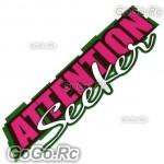 ATTENTION Seeker Sticker Decal Emblem JDM Drift Racing 70mmx200mm - CSA002RD
