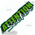 ATTENTION Seeker Sticker Decal Emblem JDM Drift Racing 70mmx200mm - CSA002GN
