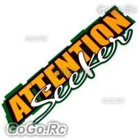 ATTENTION Seeker Sticker Decal Emblem JDM Drift Racing 70mmx200mm - CSA002YY