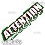 ATTENTION Seeker Sticker Decal Emblem JDM Drift Racing 70mmx200mm - CSA002WH