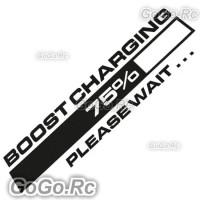 Black Boost Charging Sticker Decal JDM Japanese Drift Racing 55mmx200mm CSB001BK