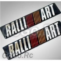 2 Pcs RALLIART MITSUBISHI Sticker Decal K5-60004