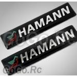 2 Pcs HAMANN Sticker Decal Emblem K5-60009