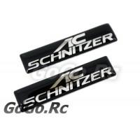 2 Pcs AC SCHNITZER BMW Sticker Decal Emblem K5-60003