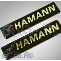2 Pcs HAMANN Sticker Decal Emblem K5-60009