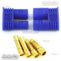 1 PAIR Male & Female RC EC2 2.0mm Lipo Battery Connector Gold Bullet Plug - EC2
