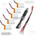 5 Pcs 3.7v 240mAh LiPo Battery for Hubsan X4 H107L RC Quadcopter