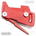 CNC Aluminum Suspension Ride Height & Camber Gauge Tool for 1/10 RC Car RED