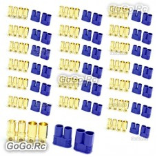 20 Pair 8mm EC8 Bullet Connector Male + Female Plugs Adapters Battery Losi
