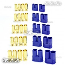 5 Pair 8mm EC8 Bullet Connector Male + Female Plugs Adapters Battery Losi