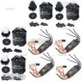4 Pcs Emax MT2216 810KV CW CCW & BLHeli 30A ESC Speed Controller DJI Quadcopter