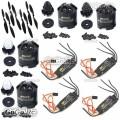 4 Pcs Emax MT2216 810KV CW CCW & 1045 Prop & BLHeli 30A ESC Speed Controller