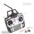 FS-T6 Flysky AFHDS 2.4GHz 6CH Transmitter & FS-R6B Receiver for RC Helicopter