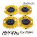 4 Pcs GT POWER RC Car Dynmaic Wheel Light LED Set Orange (GT004OR)