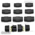 10 Pair Male / Female XT60 Upgrade Bullet Connector Plug For Lipo Battery Black