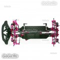 1:10 CNC Alloy & Carbon SAKURA XIS RC Racing Car Frame Body Kit With 4 Wheels