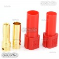 1 Pair XT150 6mm Large Current Motor Bullet Connector Male/Female w/Sleeve Red