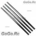 4 Pcs Tail Boom 241mm Sliver For Trex T-rex 250 Helicopter (250SL-132S )