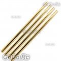 4 Pcs Gold Tail Boom 241mm For Trex T-rex 250 Helicopter (LH25030GD)