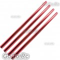 4 Pcs Red Tail Boom 241mm For Trex 250 Helicopter (RH25030-RD)