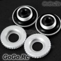 2x CNC Canopy Mounting Grommets T-Rex Helicopter 450 SE V2 - Silver (L450078x2)