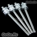 Metal Tail Rotor Shaft x4 for T-REX 450 SE V2 - Silver (LRHS1203 x4)