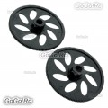 2 Pcs Black Autorotation Tail Drive Gear For T-Rex 500 Helicopter - GT500-060