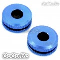 2 Pcs Metal Canopy Grommet Ring Nuts For T-Rex 550 600 700 (Blue) - LH8027-BU