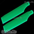 700 Tail Rotor Blade For Trex T-rex Helicopter Fluorescent Green (RH7057-04)