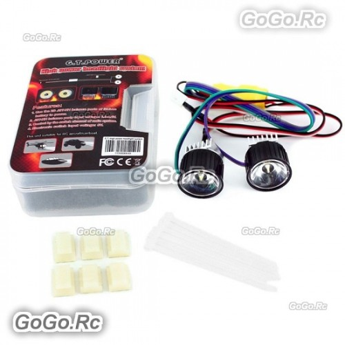 Gt Power High Power Headlight System For Rc Model Aircraft