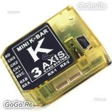 3 Axis Gyro Mini K-BAR V2 5.3.4PRO K8 Flybarless System for T-REX 450 - 700 (KBAR)