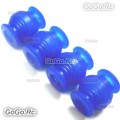 4 x Blue Vibration Dampening Silicone Rubber Balls DJI Phantom Anti Jello Gimbal MC001BU
