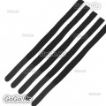5 Pcs 8mmx210mm Velcro Battery Strap Reusable Cable Tie Wrap -Black