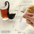 Cute Swan Shape Colander Spoon Tea Strainer Teaspoon Infuser Filter - H00001WH