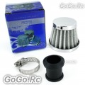 12 mm WHITE CONE MINI OIL AIR INTAKE CRANKCASE VENT VALVE COVER BREATHER FILTER